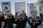 Members of the Turkish Youth Union were among protesters against Prime Minister Recep  Erdogan's ban on Twitter. Photo / AP