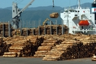 Chinese demand for logs, milk powder and meat has widened New Zealand's surplus. Photo / APN