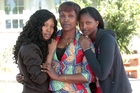 Esperance Lufufuado (centre) and daughters Rachel and Phalone Ibambusi (right) are from the Congo. Photo / Doug Sherring