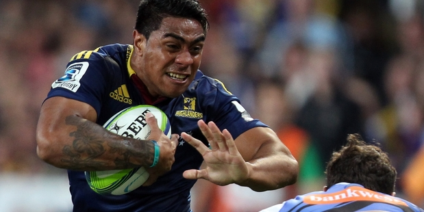 Fekitoa pulled off the tackle of the season so far when he emptied the contents of Conrad Smith liberally across Dunedin. Photo / Getty Images