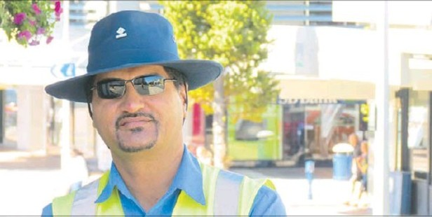 HERO: Peter, a Tauranga City Council parking warden, helped restrain a man causing trouble.