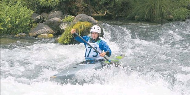 TOP EFFORT: Mount College's Kaydi O'Connor Stratton won top female paddler at NZSS White Water kayaking champs.