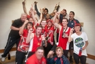 Napier Technical Old Boys celebrate a summer of satisfaction after adding the one-day championship crown at Nelson Park, Napier, on Saturday. Photo/Glenn Taylor