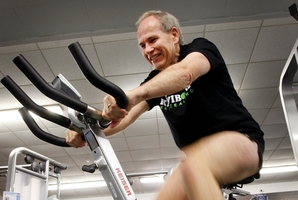 "Len Brown was ""very happy"" with his ratepayer-provided gym gear. Photo / Sarah Ivey"