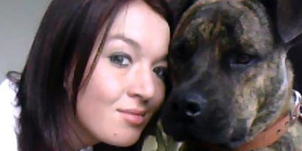 Amy Elizabeth Farrall with her dog, Chop.