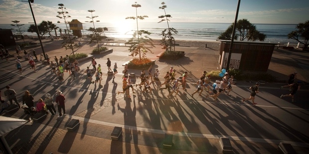 The Gold Coast Airport Marathon course begins along the coastal Esplanade - a great way to start any morning.