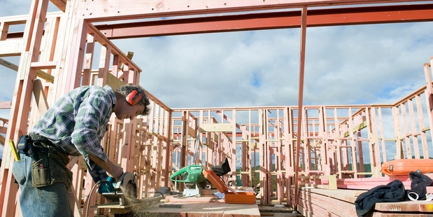ON THE JOB: Local building jobs are picking up in Wairarapa.