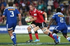 Crusaders lock Luke Romano hurt his calf in the match against the Hurricanes on Friday. Photo / Getty Images