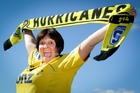 Hardcore Hurricanes fan Gail Davies will be in Napier, ``whistles and all'', to carry on her rich vein of support. Photo/Warren Buckland