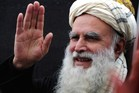 Afghan presidential candidate and former Mujahideen leader and hardline Islamist Abdul Rasul Sayyaf. Photo / AFP