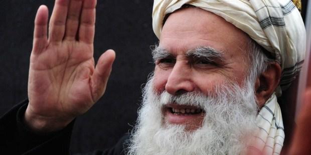 Afghan presidential candidate and former Mujahideen leader and hardline Islamist Abdul Rasul Sayyaf. Photo / AFP