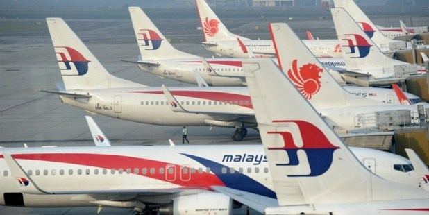 Malaysia Airlines planes parked at the terminal in Kuala Lumpur Intenational Airport (KLIA) in Sepang. Photo / AFP
