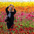 Emily Herren takes a selfie as she visits the Flower Fields in Carlsbad, California. Photo / AP