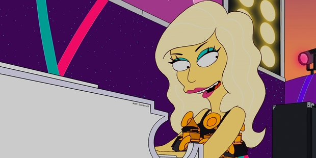 Lady Gaga's appearance in The Simpson's has been voted the worst episode in the show's 25 season history.