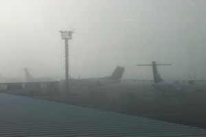 There's not much to see at Auckland Airport again this morning. File photo / Tracey Bond