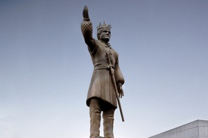 The statue of King Joffrey is expected to fall in five days.