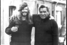 Composer Chris Cree Brown (left) with poet Hone Tuwhare in Dunedin in 1983.