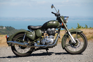 The Royal Enfield has been popular for years as an allrounder with a classic style.