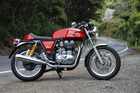 Weighing 184kg, the handling of the Royal Enfield GT is surprisingly capable. Photos / Jacqui Madelin