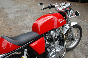 The Royal Enfield GT has that classic cafe racer style.