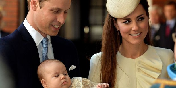 William, Kate and Prince George will visit NZ from April 7 to 16.  Photo / AP