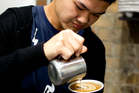 Barista Sam Low is off to Milan to take part in a workshop on coffee art.  Photo / Zara Mattsen.
