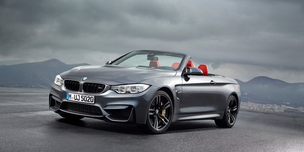 The M4 convertible looks quick ... and it is.