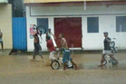 New Zealander Anna Powles tweeted a picture of looters in Chinatown Honiara follwing severe flooding in the Solomon Islands.