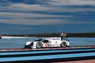 The team of Timo Bernhard, Mark Webber and Brendon Hartley test the Porsche 919 Hybrid.