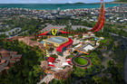 Artist's impression of Ferrari Land, which will be built in Spain.