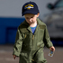 Roscoe Quinn, 2, from Devonport kitted out in his navy pilot uniform as he visits the Devonport Navel Base during the open day. Photo / Dean Purcell