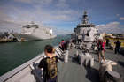 The Royal New Zealand Navy held an open day at the Devonport Navel Base. Photo / Dean Purcell