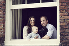 Prince William, Duke of Cambridge, Catherine, Duchess of Cambridge and Prince George of Cambridge pose for an official family portrait. Photo / Camera Press / Jason Bell