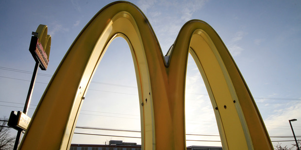 Former McDonald's store managers said they helped withhold employees' wages after facing pressure to keep labour costs down. Photo / AP