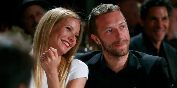 Actress Gwyneth Paltrow and Coldplay singer Chris Martin. Photo / AP