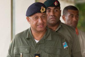 Commodore Frank Bainimarama is poised to win the election. Photo / Greg Bowker