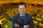 Patrick Gower in the Press Gallery at Parliament, Wellington. Photo / Mark Mitchell