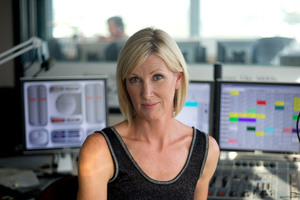 Radio host Rachel Smalley at the Newstalk ZB studio. Photo / Dean Purcell