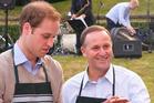 HRH Prince William, left and Prime Minister John Key. Photo / NZPA