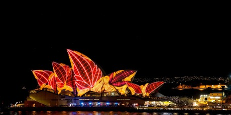 Sydney Opera House is transformed during the Vivid Sydney festival. Photo / Supplied.