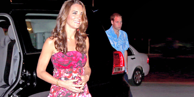 Over 200 copies of this dress were sold after Kate wore it to dine with the Governor-General of the Solomon Islands in 2012. Photo / Getty Images