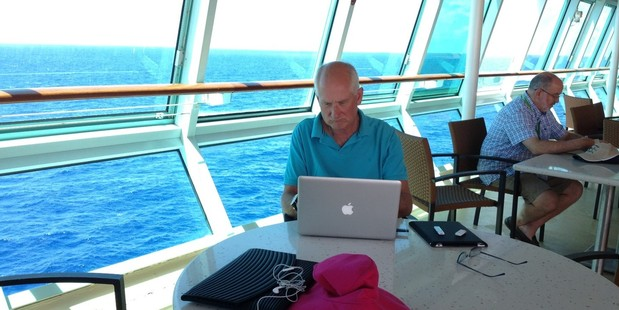 Steve - cruising while working