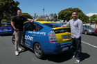 Neil MacDonald, left, and James Fisk, co-founders of taxi booking app Zoomy, say their service provides a premium experience for passengers.