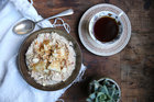 Simple spiced feijoa & apple brown rice bircher. Photo / Eleanor Ozich
