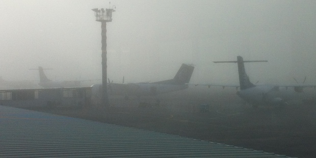Heavy fog at Auckland Airport