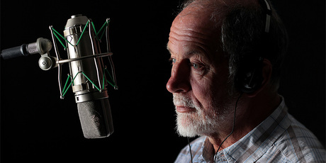 Geoff Robinson signed off Morning Report for the final time this morning. Photo / Radio New Zealand