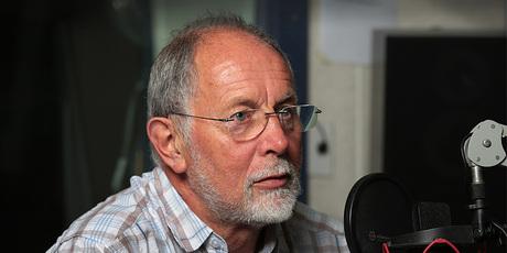 Geoff Robinson on air. Photo / Radio New Zealand