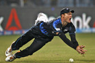 Martin Guptill misses a catch during New Zealand's 59-run defeat to Sri Lanka. Photo / AP
