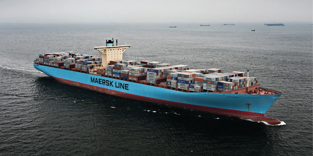 Moving empty shipping containers from Auckland to Tauranga is a logistic challenge for Maersk Line.
