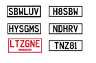These personalised plates are all available. Get in quick. Photo / plates.co.nz